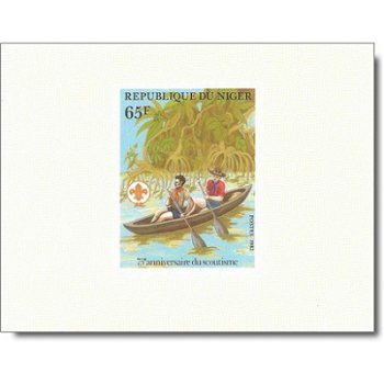 75 Jahre Pfadfinderbewegung - 4 Luxusblocks postfrisch, Katalog-Nr. 796-799, Niger
