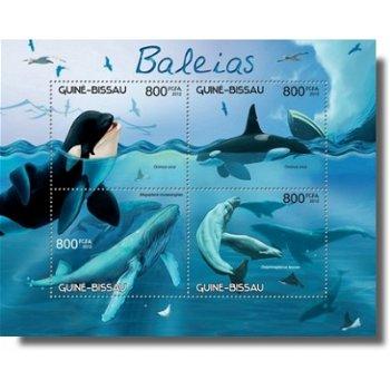 Wale - Briefmarken-Block postfrisch, Katalog-Nr. 6221-6224, Guinea-Bissau