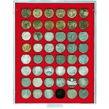 LINDNER Münzenbox, quadratische Vertiefungen 30mm, LI 2148, Standard