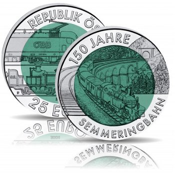 150 Jahre Semmeringbahn, Niob Münze 2004, Österreich