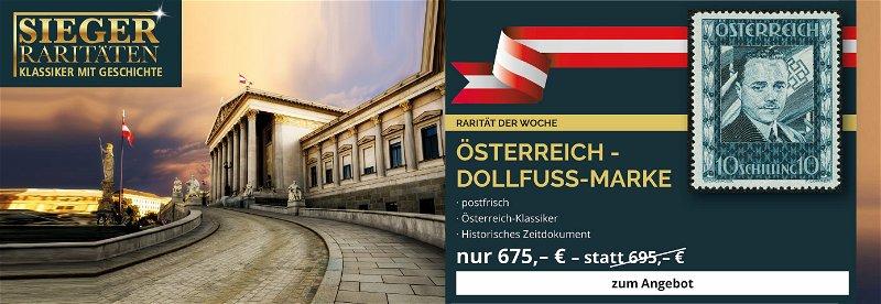 Rarität der Woche, Dollfuß-Marke, Österreich