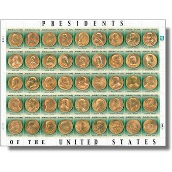 Präsidenten der Vereinigten Staaten von Amerika - Kleinbogen postfrisch, Marshall-Inseln
