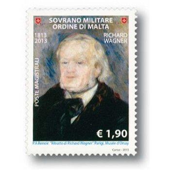 Richard Wagner - Briefmarke postfrisch, Malteser Orden