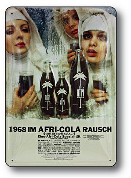 Blechschild:Afri-Cola - auch Nonnen sind durstig(20 x 30 cm)