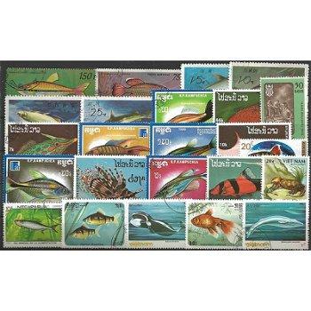 Wassertiere - 50 verschiedene Briefmarken