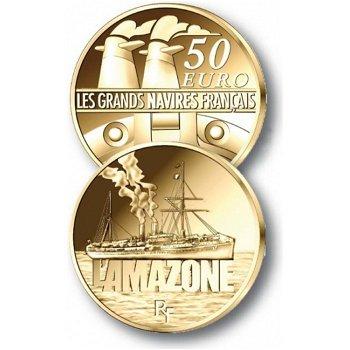 50-Euro-Goldmünze Große Französische Schiffe: L'Amazone, Frankreich