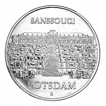 """5-Mark-Münze 1986 """"Schloss Sanssouci Potsdam"""", DDR"""