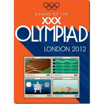Olympische Spiele 2012 - Briefmarken-Block, Liberia