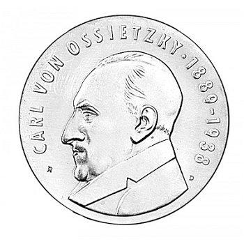 5-Mark-Münze 1989, 100. Geburtstag Carl von Ossietzky, DDR