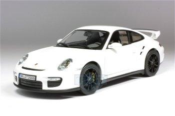 Modellauto:Porsche 911 GT2 von 2007, weiß(Norev, 1:18)
