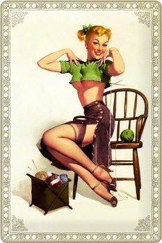 Blechschild:Sexy Strick-Liesel(Nostalgic Art, 20 x 30 cm)