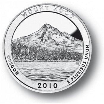 Mount Hood/Oregon, Nationalpark Quarter Münze, USA