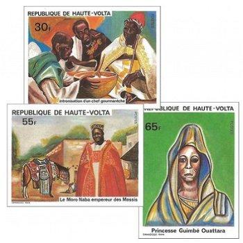 Geschichte – Briefmarken postfrisch, ungezähnt, Katalog-Nr. 800-802, Obervolta