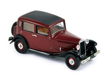 Modellauto:Lancia Augusta von 1939, braun-schwarz(Norev, 1:43)