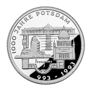"""10-DM-Silbermünze """"1000 Jahre Potsdam"""", Polierte Platte"""