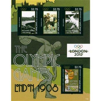 Olympische Spiele 2012 - Briefmarken-Block postfrisch, St. Vincent und Grenadinen