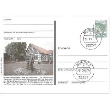 "4980 Bünde/Ostwestfalen - Bildpostkarte ""Stadtbücherei"""