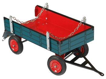 Blechmodell:2-Achs-Anhänger mit Ketten, blau(Kovap, 1:25)