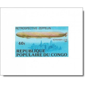 Zeppelin-Luftschiffe - 5 Luxusblocks postfrisch, Katalog-Nr. 577-581, Kongo