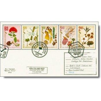 Einheimische Bäume - Briefmarken-Block gestempelt, Neuseeland