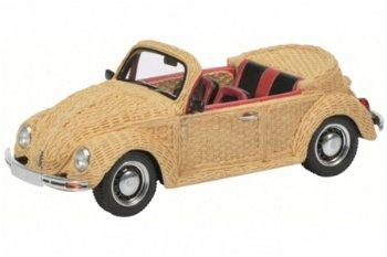 Modellauto:VW Käfer Cabrio - Korbgeflecht - von 1997(Schuco/PRO.R43, 1:43)