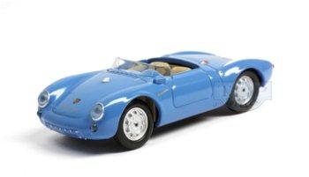Modellauto:Porsche 550 Spyder von 1953, blau(Busch, 1:87)