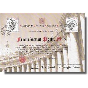 Papst Franziskus - Briefmarken-Block gestempelt, Vatikan