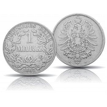 Die erste Deutsche Mark, 1 Mark Silbermünze, sehr schön, Deutsches Kaiserreich