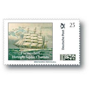Viermastbark Herzogin Sophie Charlotte - Marke Individuell postfrisch, Deutschland