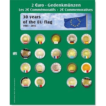 SAFE Münzblatt 30 Jahre Europaflagge für 2 Euro Münzen 2015, Safe 7341-15
