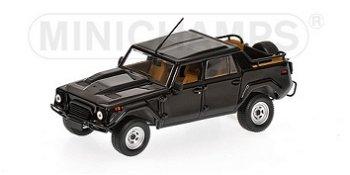 Modellauto:Lamborghini LM 002 von 1986, schwarz(Minichamps, 1:43)