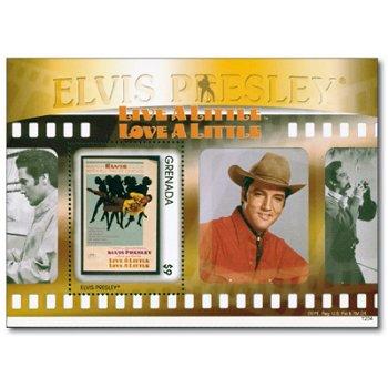 """Elvis Presley """"Live a little, love a little"""" - Briefmarken-Block postfrisch, Grenada"""