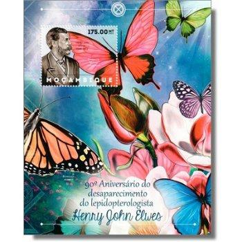 Henry John Elwes, Briefmarken-Block postfrisch, Mocambique