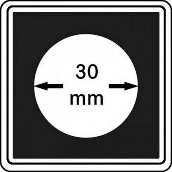 Münzkapseln CARRÉE 30 mm, 4er Pack, LI 2240030