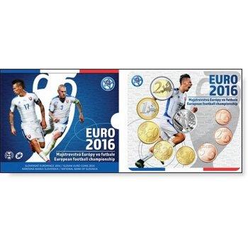 Kursmünzensatz 2016, Fußball EM, Stempelglanz im Blister, Slowakei
