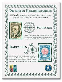 Die ersten Sportbriefmarken - Sonderdruck, Deutschland