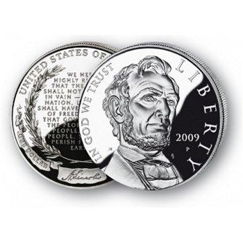 Abraham Lincoln - Silberdollar 2009, 1 Dollar Silbermünze, USA