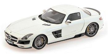Modellauto:Mercedes-Benz Brabus SLS AMG Coupévon 2012, perlweißII. Wahl(Minichamps, 1:18)