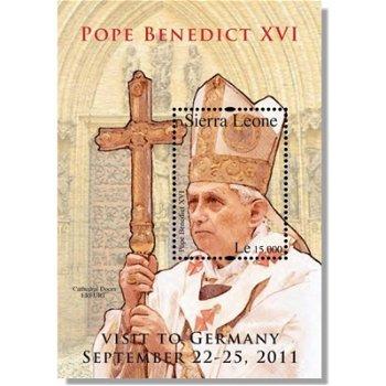 Papst Benedikt XVI. Besuch in Deutschland - Briefmarke postfrisch, Sierra Leone