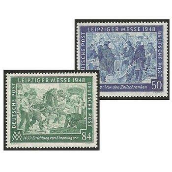 Leipziger Frühjahrsmesse 1948 - 2 Briefmarken postfrisch, Katalog-Nr. 967-68, Alliierte Besetzung