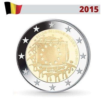 30 Jahre Europaflagge, 2 Euro Münze 2015, Belgien