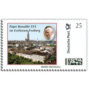 Pope Benedict XVI in Freiburg - Individual brand mint