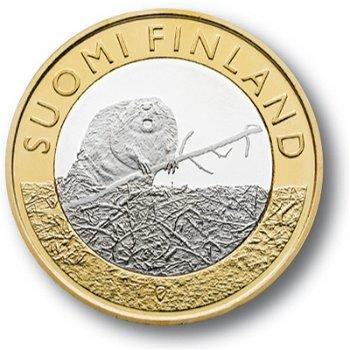Tiere der Provinzen: Biber, 5 Euro-Münze, Finnland