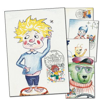 Pumuckl, Comicfiguren - 5 Maximumkarten postfrisch, Katalog-Nr. 1990 - 1994, Deutschland