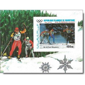 Olympische Winterspiele 1988, Calgary - Briefmarken-Block ungezähnt postfrisch, Katalog-Nr. 916 Bl.