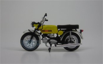 Modell-Moped:Jawa Mustang, gelb(IXO-Museum, 1:24)