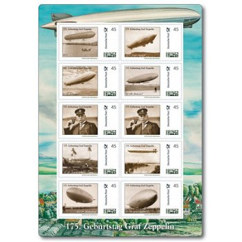 175th birthday Graf Zeppelin - miniature sheet mint never hinged, Germany