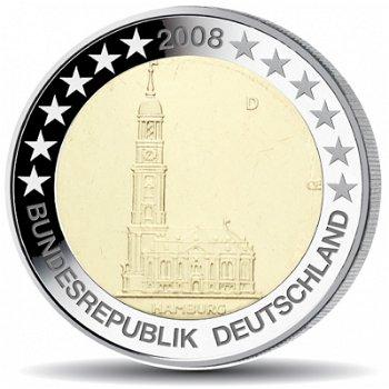 """2 Euro Münze 2008, Michaeliskirche / Hamburg"""", Deutschland, 1 Prägezeichen"""