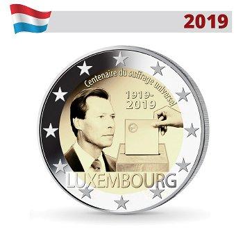 100 Jahre allgemeines Wahlrecht, 2 Euro Münze 2019, Luxemburg