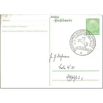 3000 Hanover - postal stationery & quot; Stamp Exhibition Hanover 1937 & quot;